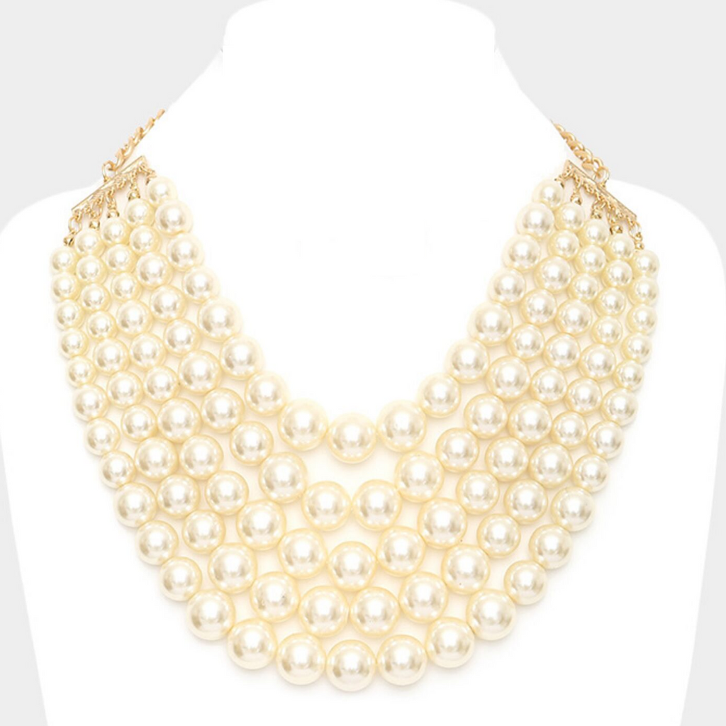 Pearl Bib Necklace