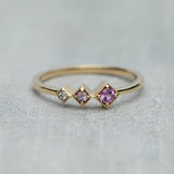 Axis Ring - Pink sapphires & diamond