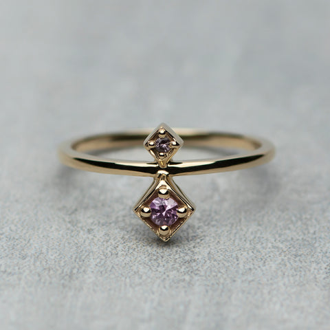 Tier Ring - Pink sapphires