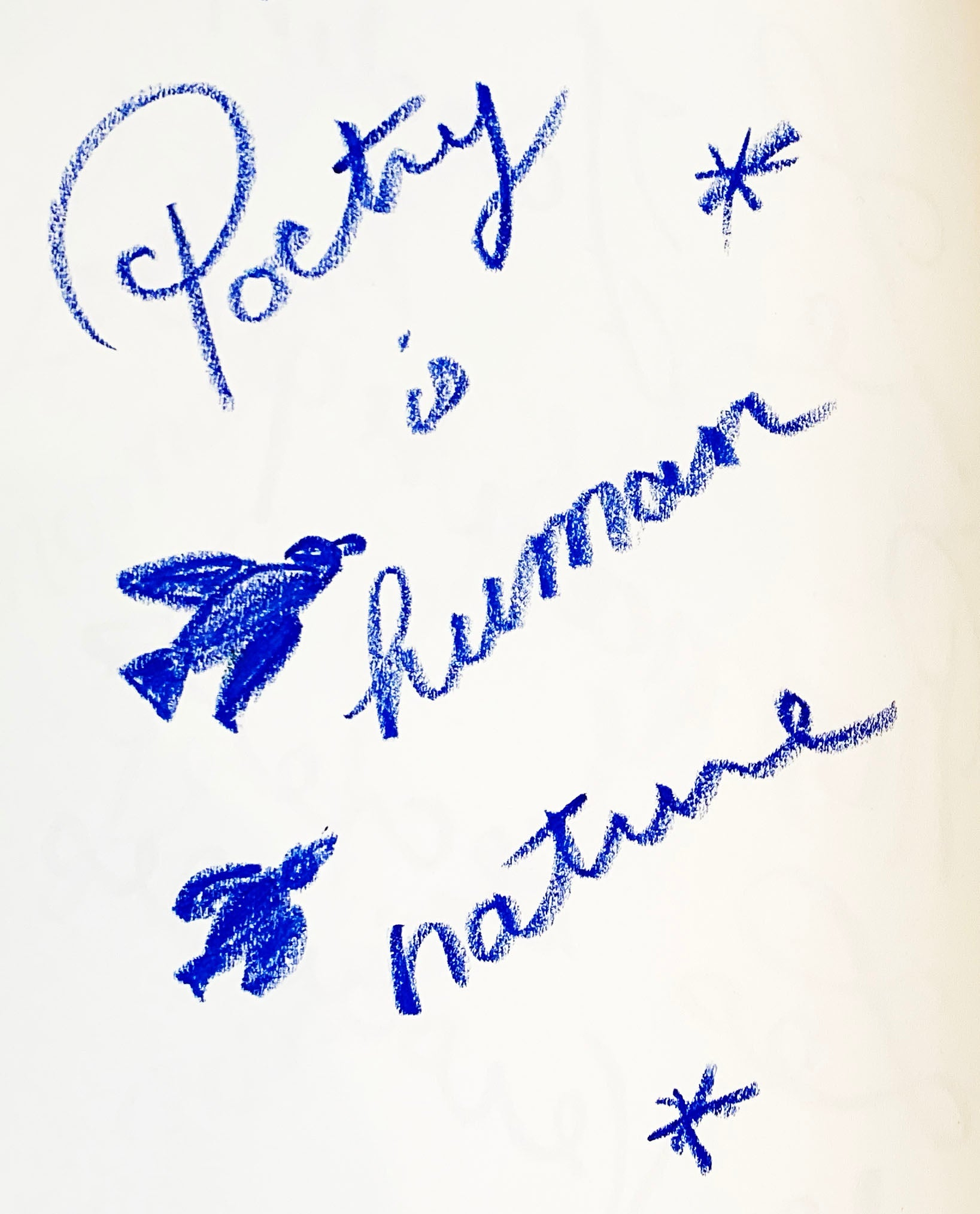 """Poetry is human nature"" - Preparation Sketches for new series"