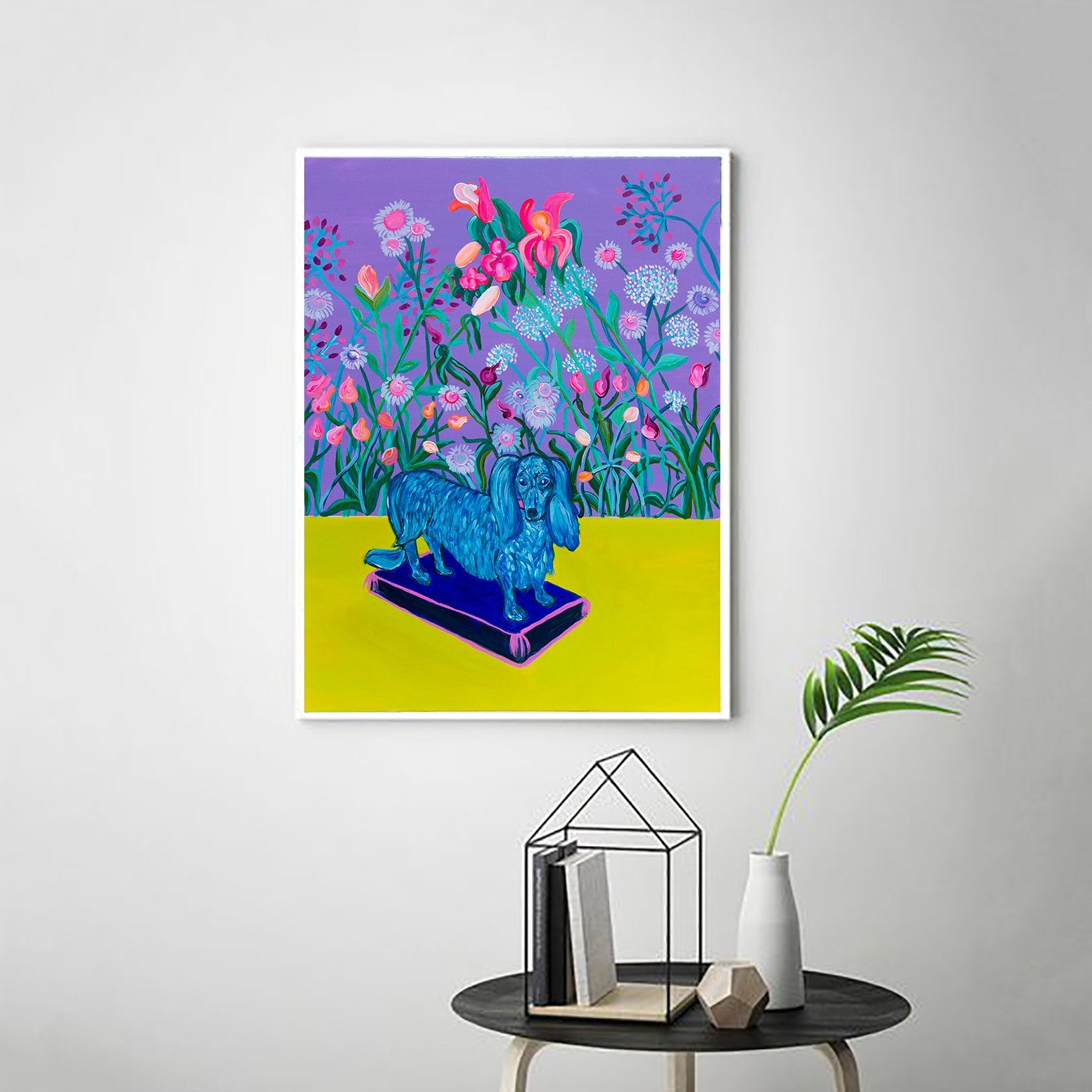 Colourful Dog Art Print - Davina Shefet Art Store