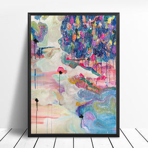 "Art Print of Abstract Landscape ""Forest in the snow"""