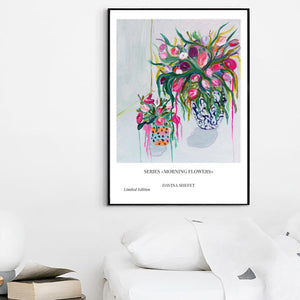 Print of A Blue Vase In a White Room - Davina Shefet Art Store