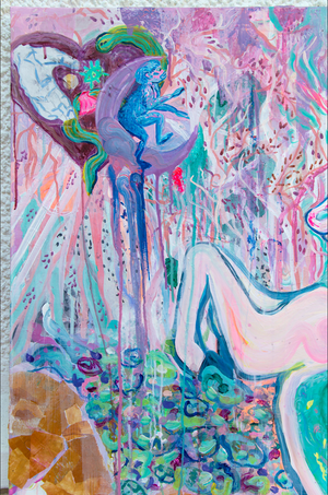 "Painting ""Unicorn Dream"" Series ""First there was magic"""