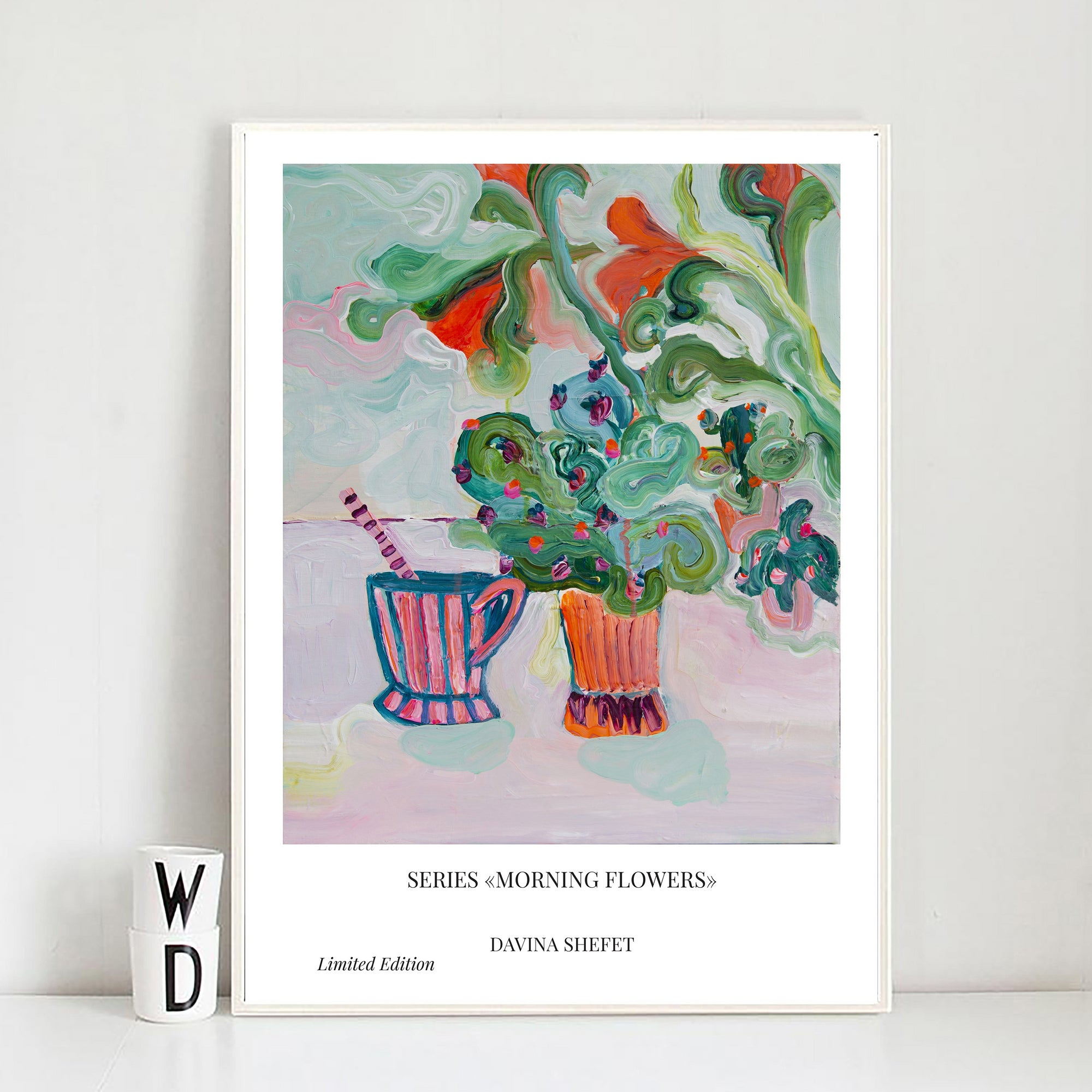 Art Print Cactus in White Room - Davina Shefet Art Store