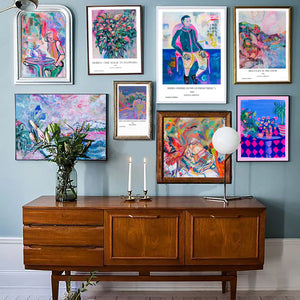 Blue Eclectic Mix Wall