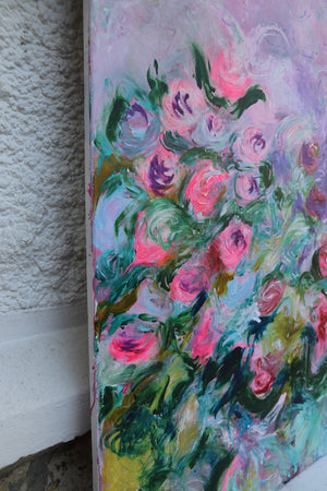 Big Flower Painting - Original Piece - Davina Shefet Art Store