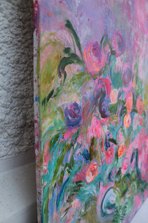 Big Original Floral Painting - Davina Shefet Art Store
