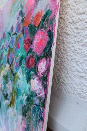 Big impressionist flower painting