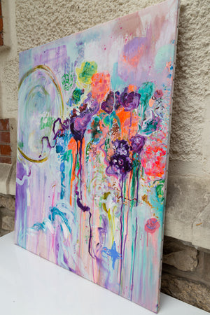 Flowers and Poetry I - Original Painting