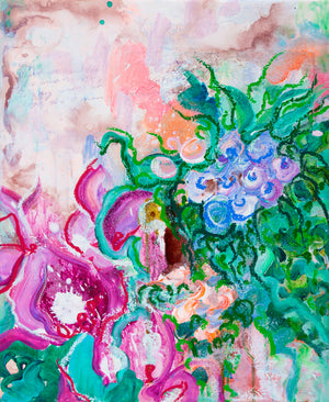 Flowers and Poetry III - Abstract Painting