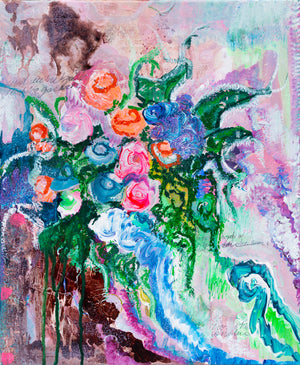 Flowers and Poetry VI - Abstract Painting