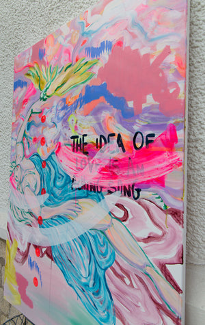 """The Idea Of Love"" Painting - Davina Shefet Art Store"