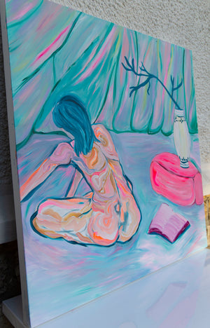 Woman nude painting, Original artwork - Davina Shefet Art Store