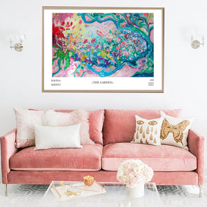 "Art Print ""The Garden"" with title - Davina Shefet Art Store"