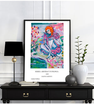 "Art Print with title, Series ""Abstract in People"" - Davina Shefet Art Store"