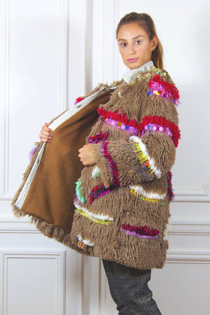 Fluffy Coat - Unique Collector Piece Made by Hand - Davina Shefet Art Store