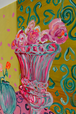"Yellow Bouquet, Series ""The Magic in Flowers"", Original painting - Davina Shefet Art Store"
