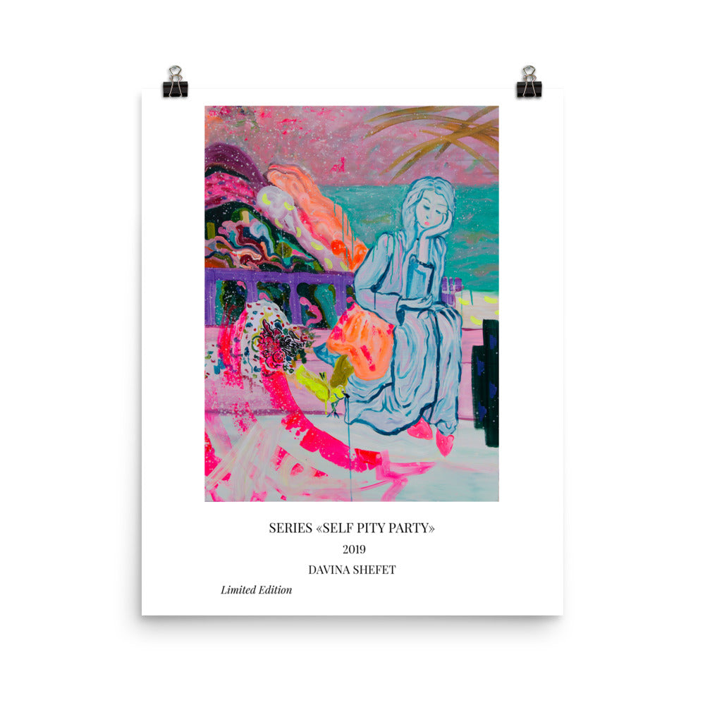 "Art Print of ""Bored With Love"" with Titles"