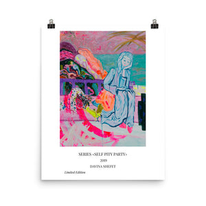 "Art Print of ""Bored With Love"" with Titles - Davina Shefet Art Store"