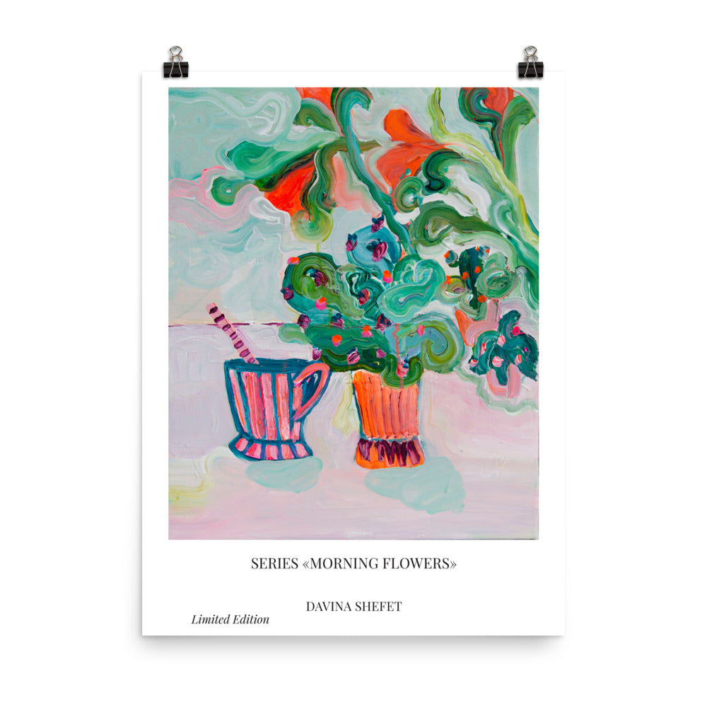 Art Print Cactus in White Room