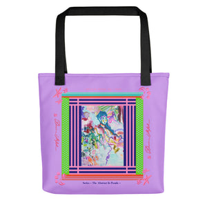 Tote bag - Two Colors Handle - Davina Shefet Art Store