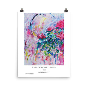 Abstract Flowers Art Print, Contemporary Art - Davina Shefet Art Store