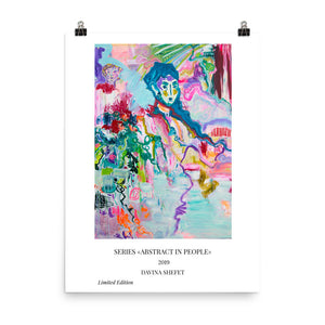 "Art Print of Boy Series ""Abstract in People"""