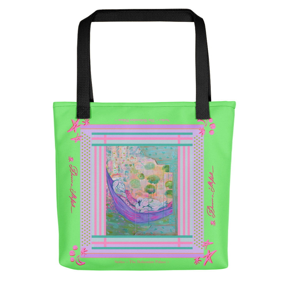 Tote bag - Girl with Swan - Davina Shefet Art Store