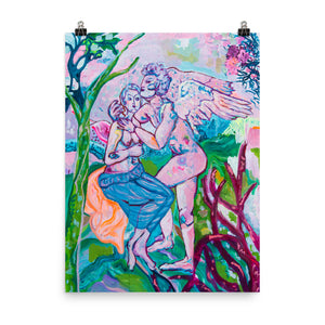 Art Poster of Greek Couple - Davina Shefet Art Store