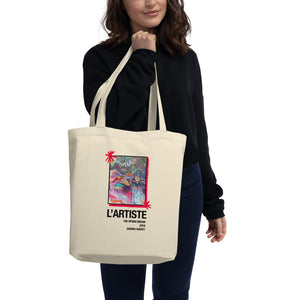 "Big Eco Tote Bag Double Art, ""The Artist"" and ""Tension"""