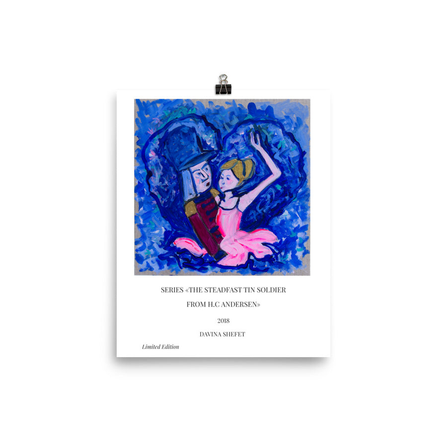 "Art Print illustration of ""The Steadfast Tin Soldier"", HC Andersen - Davina Shefet Art Store"
