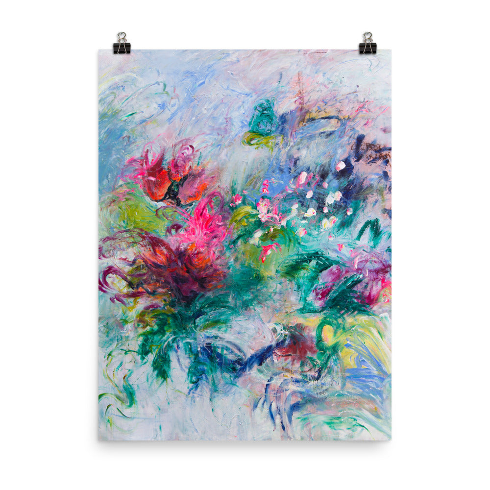 Flower Art Print, Abstract Art - Davina Shefet Art Store