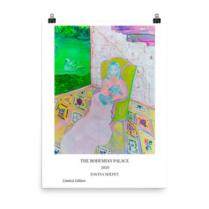 "Art Print with Title ""The Bohemian Palace"" - Davina Shefet Art Store"