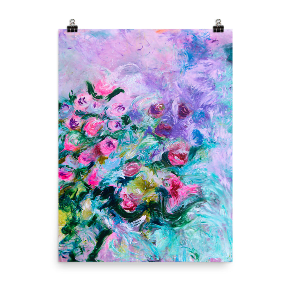 "Art Print of ""Flowers in Spring I"", Flower Art - Davina Shefet Art Store"