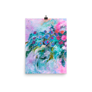 Art Print of impressionist flowers