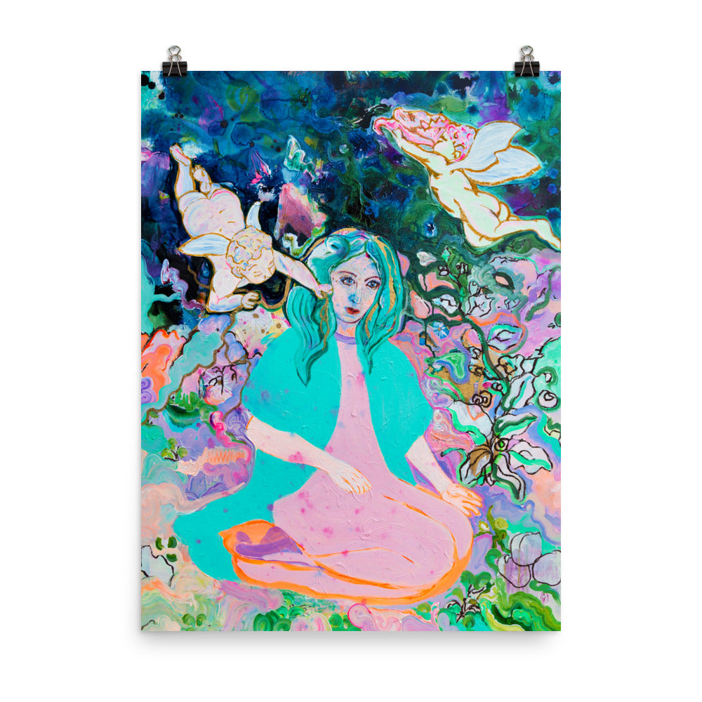 Print - Woman in Persian Garden