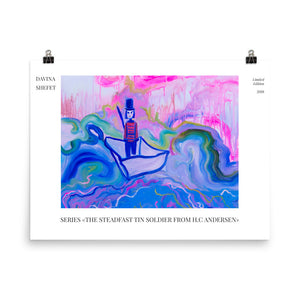 "Art Print of ""The Steadfast Tin Soldier"" HC Andersen - Davina Shefet Art Store"