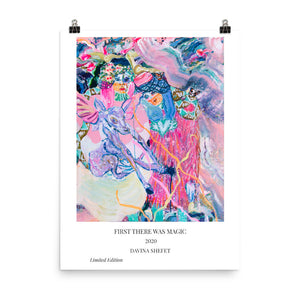 Art Print with title, Girls Painting