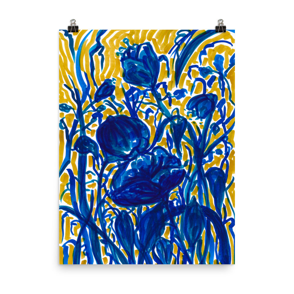 Art Print of Blue Flowers