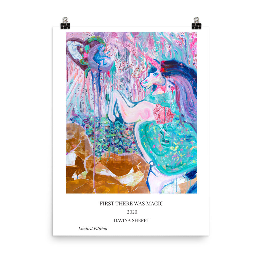 "Art Print ""Unicorn Dream"" with title"