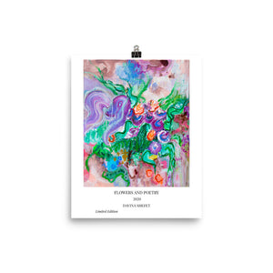Abstract Floral Art Print, Contemporary Art