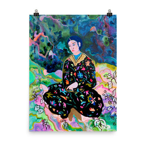 Man in Persian Garden Print
