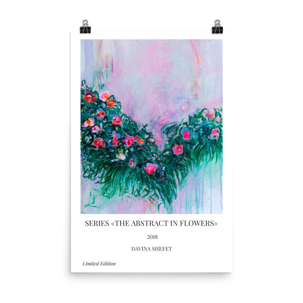 Art Print of Abstract Flowers - Davina Shefet Art Store