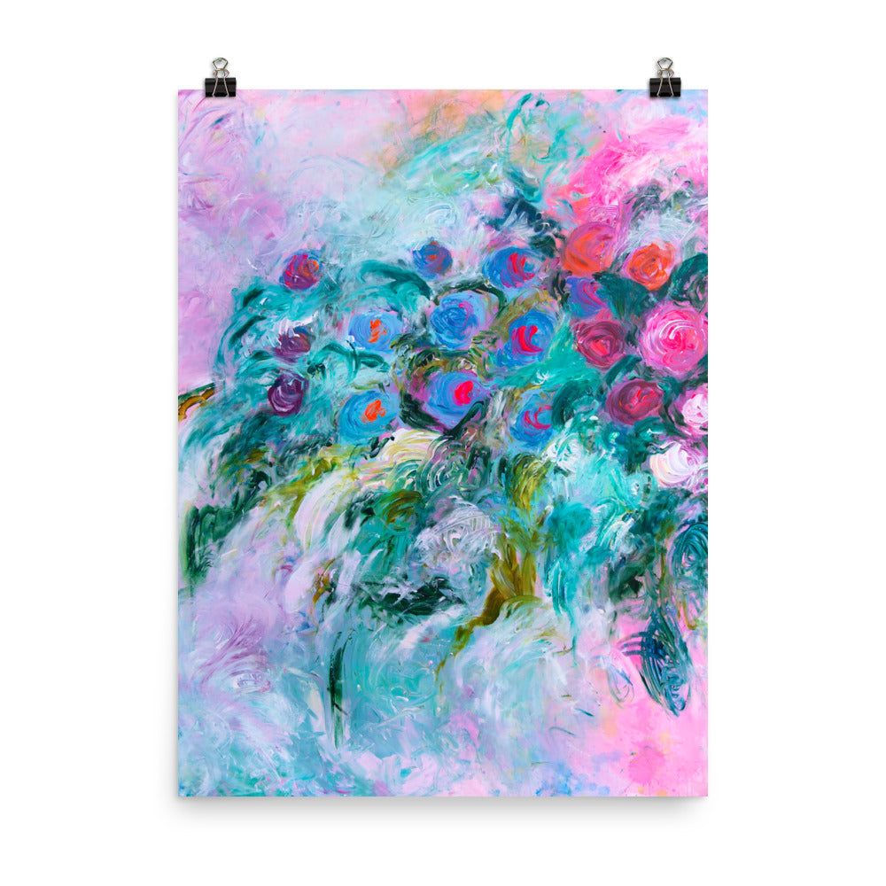 Art Print of impressionist flowers - Davina Shefet Art Store