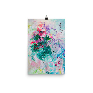 Abstract Flowers Art Print - Davina Shefet Art Store