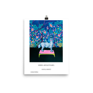 Royal Dog Blue Art Print - Davina Shefet Art Store