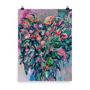 "Limited Edition Art Print, ""Blue Flowers"" - Davina Shefet Art Store"