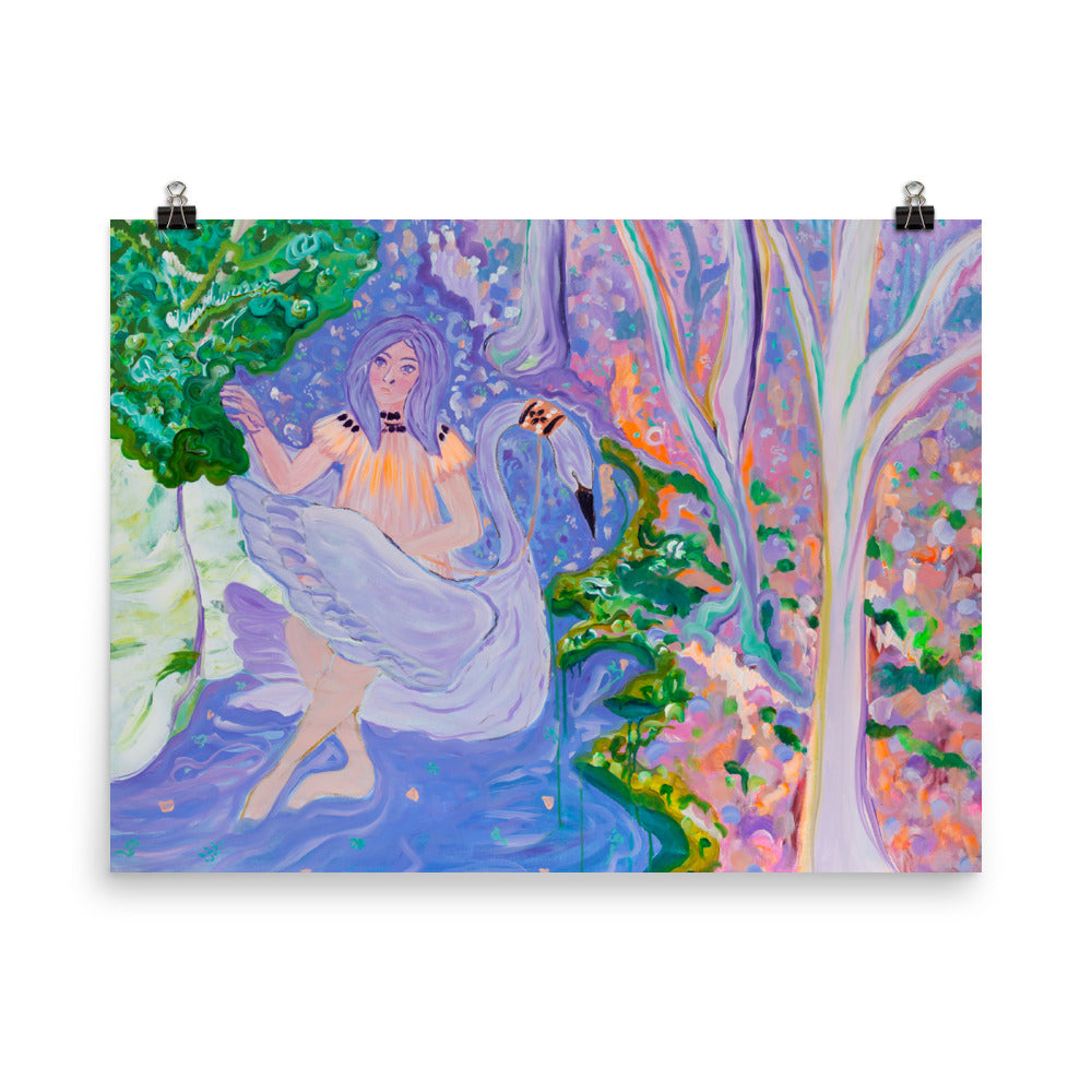 "Art print of ""Girl in Purple Water"""