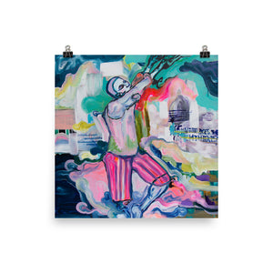 Square Art Print of figurative contemporary art
